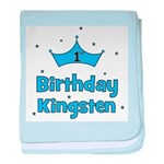 1st Birthday Kingsten! baby blanket