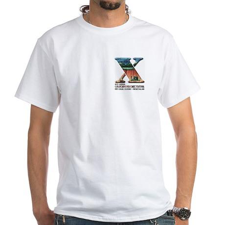 9th Colorado Dulcimer Festival White T-Shirt