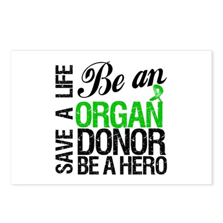 Be an Organ Donor Postcards (Package of 8)