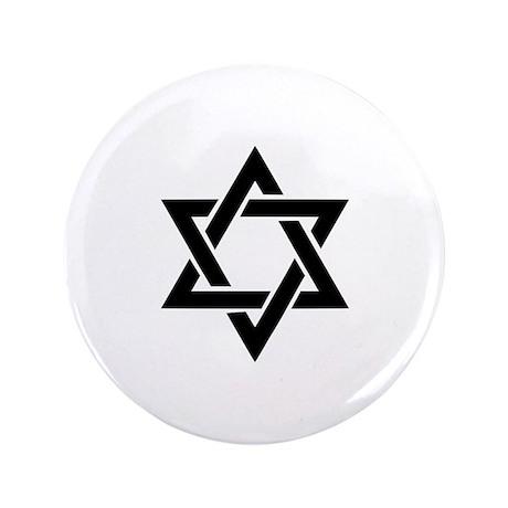 "Star of david 3.5"" Button"