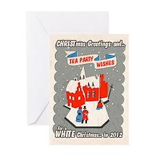 WHITE Christmas 2012 Greeting Card