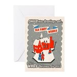 WHITE Christmas 2012 Greeting Cards (Pk of 10)