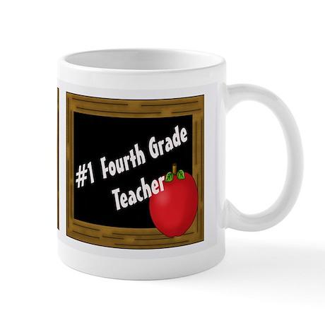 #1 Fourth Grade Teacher 2 Mugs