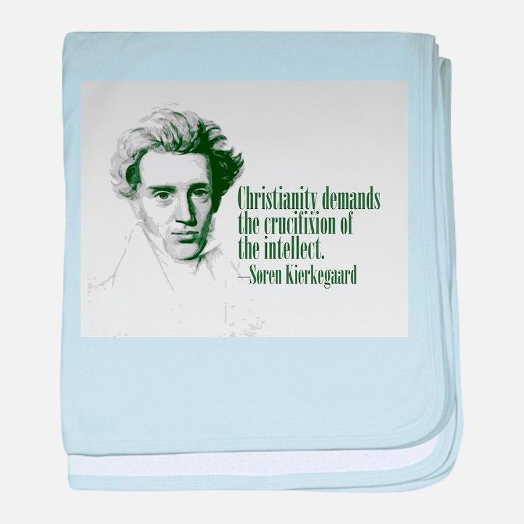 Kierkegaard on Christianity baby blanket