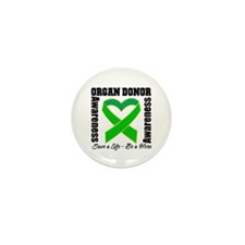 Heart Organ Donor Awareness Mini Button (10 pack)