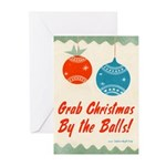 Grab Christmas By the Balls Greeting Cards (10pk)