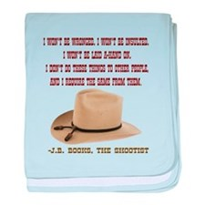 The Shootists Creed baby blanket
