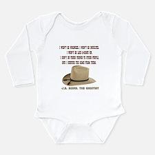 The Shootists Creed Long Sleeve Infant Bodysuit