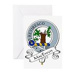 MacEwen Clan Badge Greeting Cards (Pk of 10)