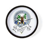 MacEwen Clan Badge Wall Clock