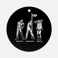 3 Bitches of Government Ornament (Round)