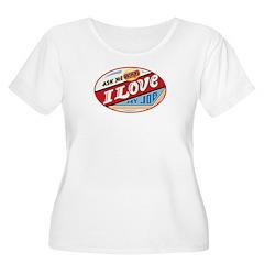 Women's Plus Size Scoop Neck I Love My Job T-Shirt