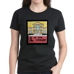 Women's Dark L is for Library T-Shirt (3 Colors!)
