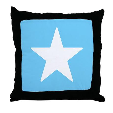Blue Alphabet Blocks Throw Pillow - Star