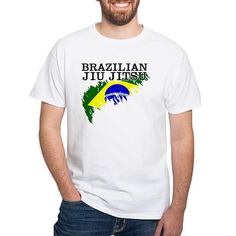 Brazilian Jiu Jitsu flag White T-Shirt