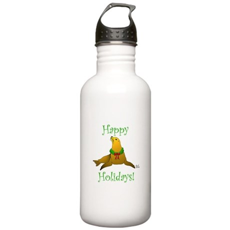 Christmas Sea Lion Stainless Water Bottle 1.0L