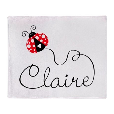 Ladybug Claire Throw Blanket