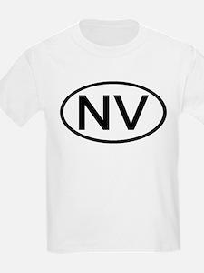 Nevada - NV - US Oval Kids T-Shirt
