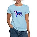 Corey Tiger 80s Retro Vintage Blue Tiger T-Shirt W