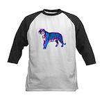 Corey Tiger 80s Retro Vintage Blue Tiger T-Shirt K