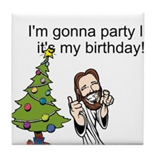 Funny Jesus Tile Coaster