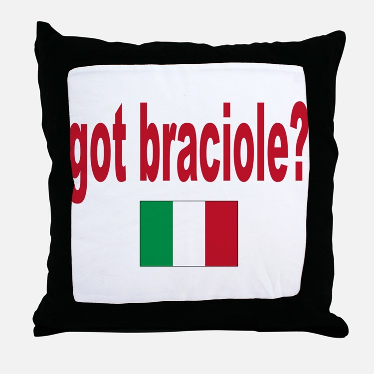 got braciole? Throw Pillow