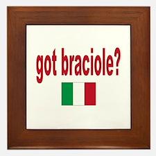 got braciole? Framed Tile