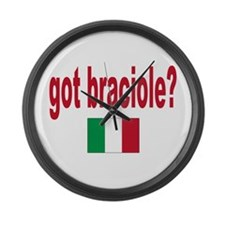 got braciole? Large Wall Clock