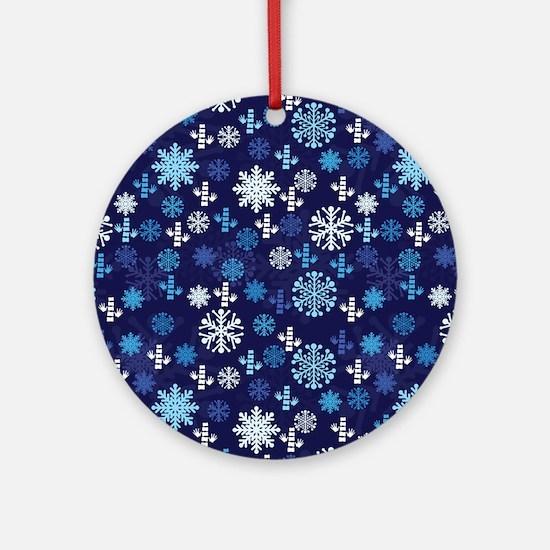 Chiropractic Christmas Ornament (Round)