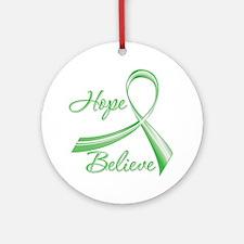 Hope Believe Organ Transplant Ornament (Round)