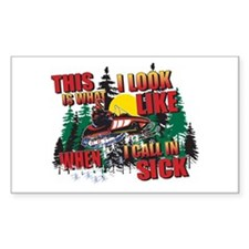 Snowmobiling is Life Live IT Sticker (Rectangular)