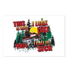 Snowmobiling is Life Live IT Postcards (Package of