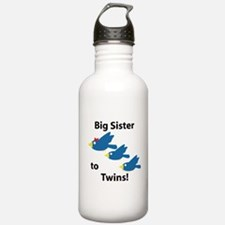 Big Sister to Twins Water Bottle