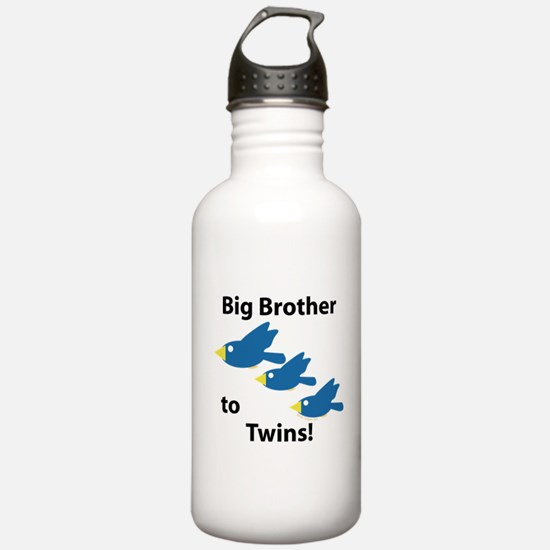 Big Brother to Twins Water Bottle