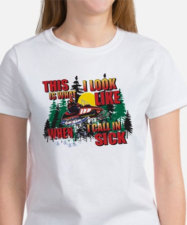 Snowmobiling is Life Live IT Women's T-Shirt