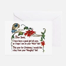 Naughty boys for Christmas - Greeting Card