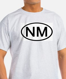 New Mexico - NM - US Oval Ash Grey T-Shirt