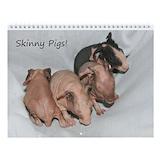 Skinny pig Wall Calendars