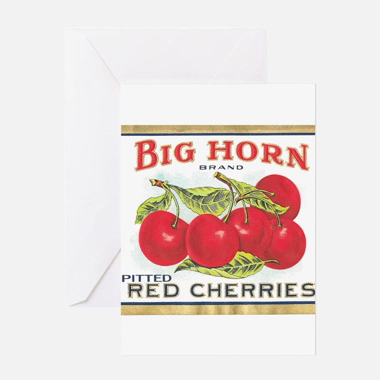 BIG HORN CHERRIES Greeting Cards