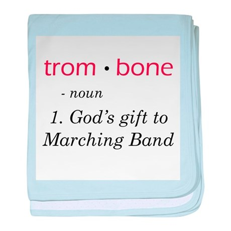 Trombone baby blanket