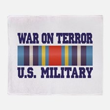 War On Terror Service Ribbon Throw Blanket