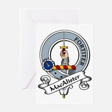 MacAlister Clan Badge Greeting Cards (Pk of 10