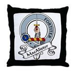 MacAlister Clan Badge Throw Pillow