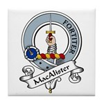 MacAlister Clan Badge Tile Coaster