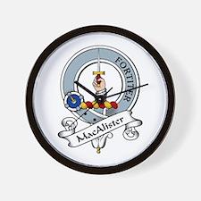 MacAlister Clan Badge Wall Clock