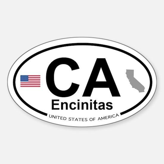 Encinitas Sticker (Oval)