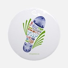 Tap Shoe Ornament (Round)