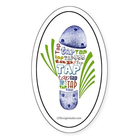 Tap Shoe Sticker (Oval)