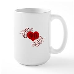 90th Birthday Fancy Heart Mug