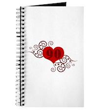 90th Birthday Fancy Heart Journal